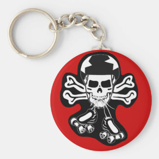 Skate or die basic round button keychain