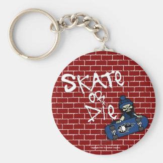 Skate or Die Keychain