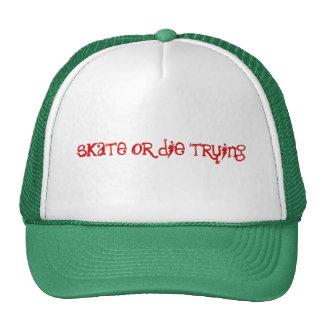 skate or die trying trucker hat