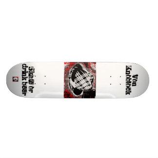 Skate or Drink Beer by Von Knoblock Skate Board Decks