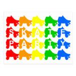 skate party : rainbow quads postcard