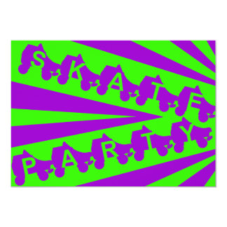 "skate party : retro 80s 5"" x 7"" invitation card"