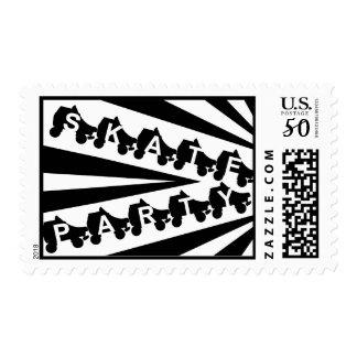 skate party : retro 80s postage