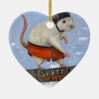Skate Rat Ceramic Ornament