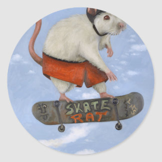 Skate Rat Classic Round Sticker