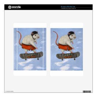 Skate Rat Kindle Fire Decals