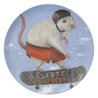 Skate Rat Melamine Plate