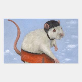 Skate Rat Rectangular Sticker