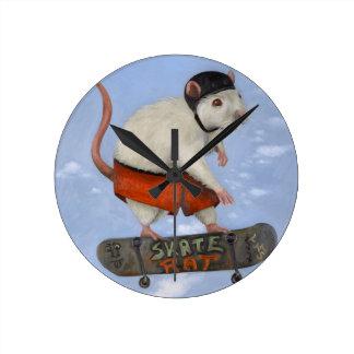 Skate Rat Round Clock