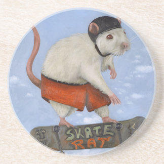 Skate Rat Sandstone Coaster