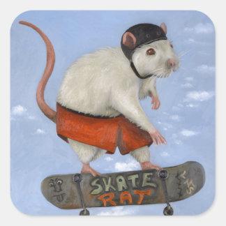 Skate Rat Square Sticker
