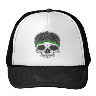 Skate Rock Skull (green bandana) Trucker Hat