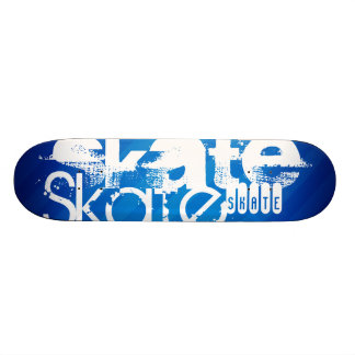 Skate, Royal Blue Stripes Custom Skateboard