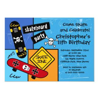 Skate Skateboard Party Birthday Invitations