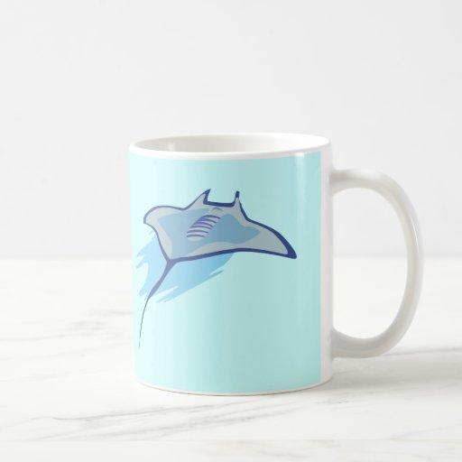 Skate Skates Rays Batoidea Ocean Art Blue Fish Mug