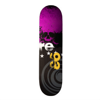 Skate Skull Personal Purple initials and B. Year Skateboard Deck