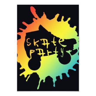 "skate splatz party invitation 5"" x 7"" invitation card"