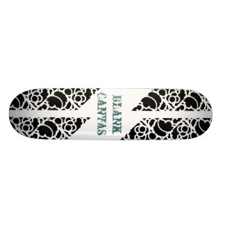 Skate Stencil Blank Canvas Skateboard Deck