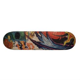 Skate Sun and Skull Skateboard