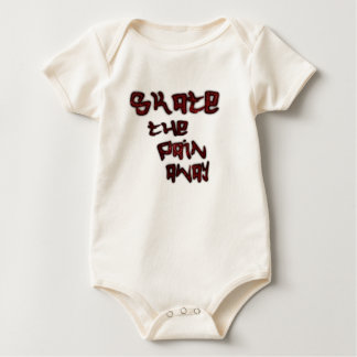 skate the pain away baby bodysuit