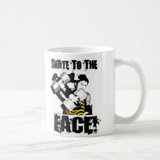 Skate to Face Classic White Coffee Mug