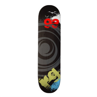 Skate Twister Personalize Initials and Birth Year Skateboard Deck