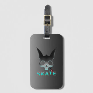 Skate Urban Graffiti Cool Cat Luggage Tag