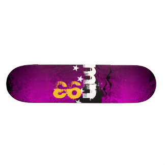 Skate Vamps Personal Purple initials and B. Year Skateboard