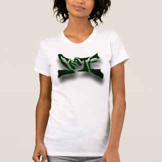 skate with green highlight tank top