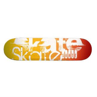 Skate; Yellow Orange Gradient Custom Skateboard