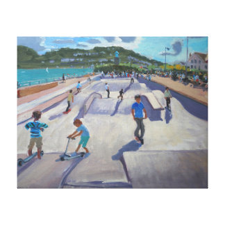 Skateboaders Teignmouth 2012 Impresiones En Lona