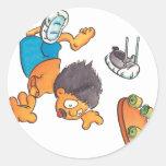 Skateboard #5 round sticker
