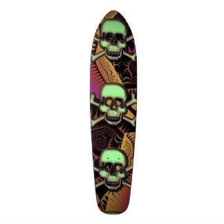 Skateboard and Skull Design by Leslie Harlow