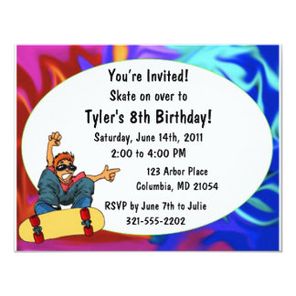 Skateboard Birthday Invitation