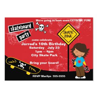 Skateboard Birthday Party Card