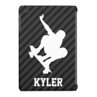 Skateboard; Black & Dark Gray Stripes iPad Mini Retina Case