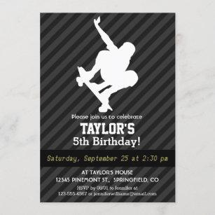 Skateboarding Birthday Invitation Sports Birthday Invitation Extreme Sports Birthday Invitation