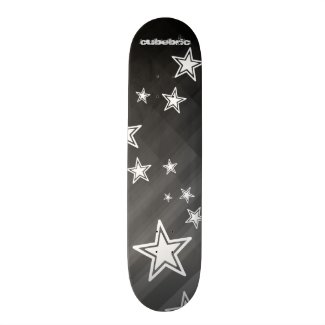 Skateboard Black Stars Stripes Cubebric