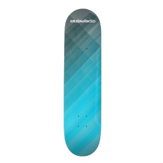 Skateboard Blue Plain Cubebric