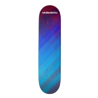 Skateboard Blue Red Cubebric