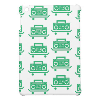 Skateboard boombox with hearts as speekers iPad mini case