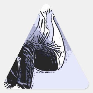 Skateboard cat triangle sticker