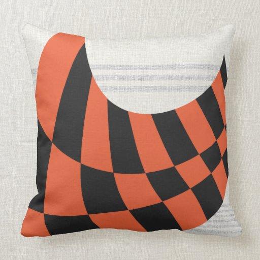 Skateboard Champion Swoosh 20 x 20 Grey Orange Pillow