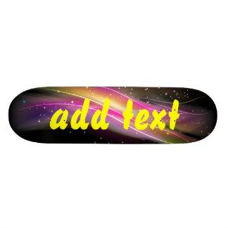 skateboard colorful flourish design