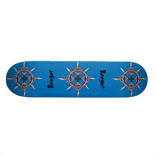Skateboard (comp) - Cross in Circle with Spikes
