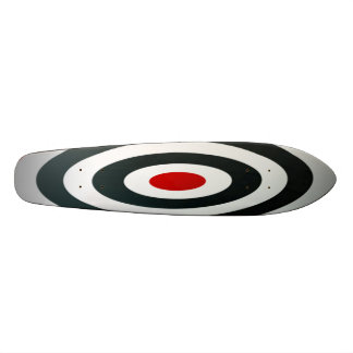 Skateboard crazy bullseye target customizeable