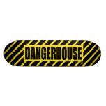 Skateboard Dangerhouse Logo YELLOW
