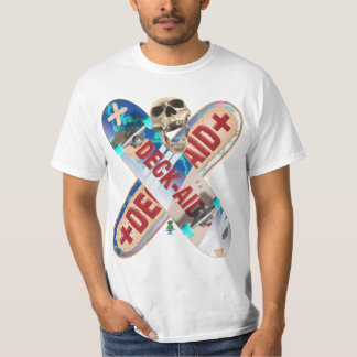 Skateboard Deck Aid T Shirt - White Only