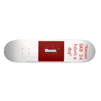 """skateboard design 5, """"Xenon SK8  24 hours a day"""""""