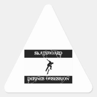 skateboard design triangle sticker